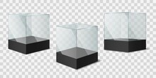Glass Cube. Transparent Shiny ...