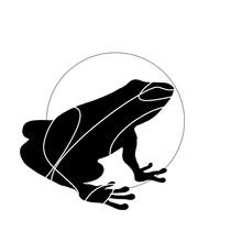 Frog Lineart Logo Outline Mini...