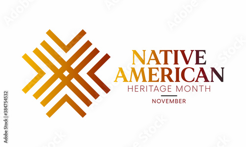 Fotografering Vector illustration on the theme of Native American heritage month observed each year during November