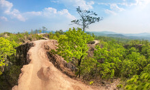 Pai Canyon Or Local Name Is Kong Lan The Attraction In Mae Hong Son Province, Northern Thailand