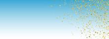 Golden Star Carnival Vector Panoramic Blue