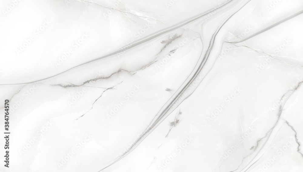 Fototapeta white satvario marble. texture of white Faux marble.  calacatta glossy marbel with grey streaks. Thassos statuarietto tiles. Portoro texture of stone.  Like emperador and travertino marbelling.