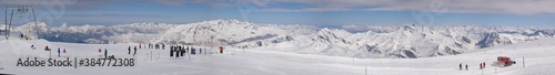 ski schi piste  panorama Fototapeta