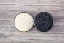 Black And White Sesame In Bowl...