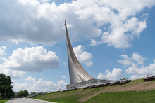 Conquerors Of Space Monument. The Museum Of Cosmonautics. Moscow.