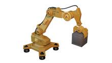 3d Industrial Robot Arm Isolat...
