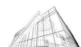 Fototapeta Do przedpokoju - 3d rendering of a building