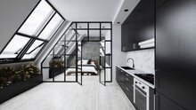 Loft In The Attic With Kitchen...