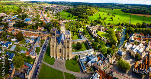 View of Wells Cathedral is in Wells, Somerset, England Wallpaper Mural