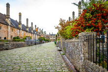 View Of Vicars' Close In Wells, Somerset, England