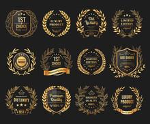 Prize Emblems Realistic Set