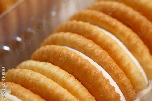 homemade biscuits in a bowl on table , Close up Fotobehang
