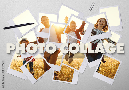 Photo Collage Effect Mockup