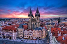 Prague Old Town Square And Chu...