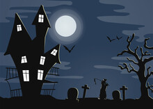 Grim Landscape. Halloween Them...