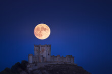 Full Moonrise Over An Ancient ...