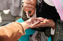 Henna Tattoo In Hand Morocco