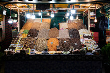 Food Stand At Night Market