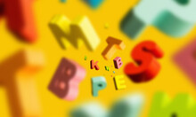 Colorful Letters Flying