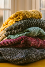Stack Of Fall Sweaters