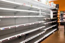 Empty Grocery Store Shelves Du...
