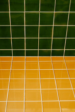 Yellow And Green Portuguese Tiles