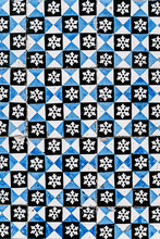 Antique Tiles White And Blue