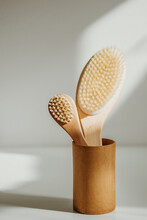 Wooden Body And Facial Brush