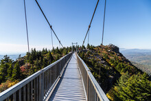 Mile High Swinging Bridge At Grandfather Mountain Park, Linville, NC