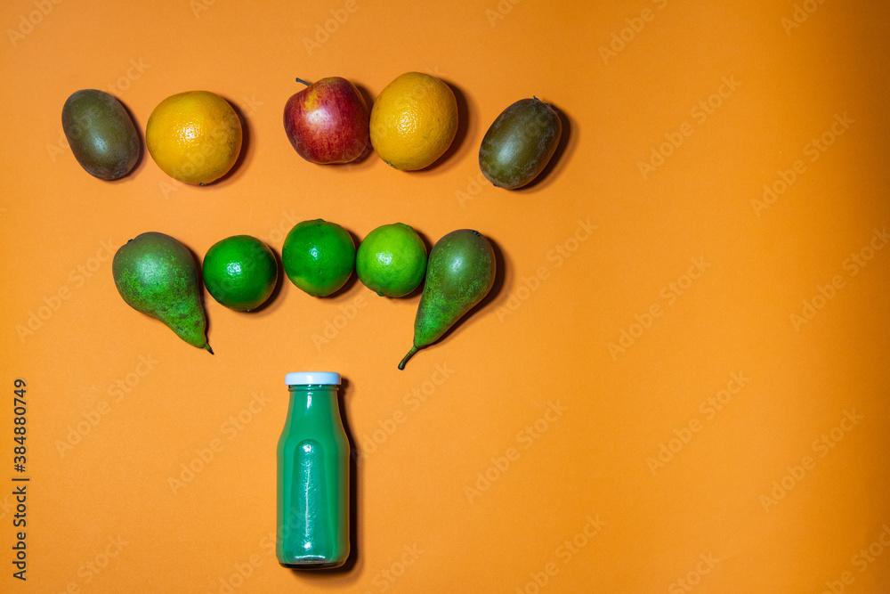 Fototapeta Owocowy wytrysk witaminowy - smoothie zielone