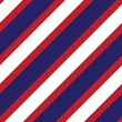 Red and Blue Stripe seamless pattern background in diagonal style