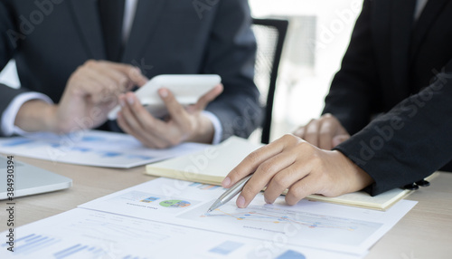 Fototapety, obrazy: Business people meeting company finance in meeting room
