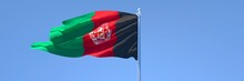 3D Rendering Of The National Flag Of Afghanistan Waving In The Wind