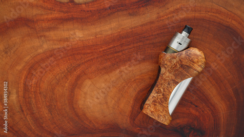 high end titanium genesis atomizer with stabilized natural black ash wood regula Canvas