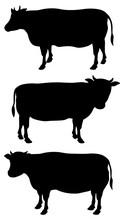 牛イラスト_シルエット