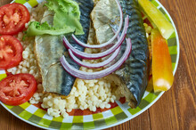 Israeli  Fried Mackerel Fish W...