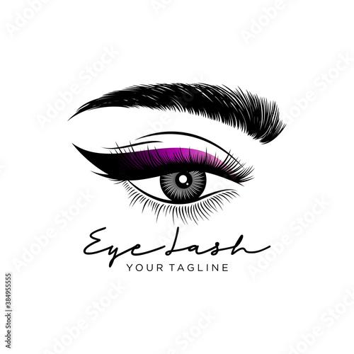 Obraz Luxury Beauty Eyelashes Logo Vector illustration - fototapety do salonu