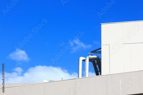 Fényképezés ビル屋上の配水管