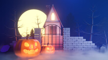Halloween Theme With Pumpkins ...