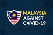 Malaysia Against Covid-19 Campaign - Vector Flat Design Illustration : Suitable For World Theme, Health / Medical Theme, Humanity Theme, Infographics And Other Graphic Related Assets.