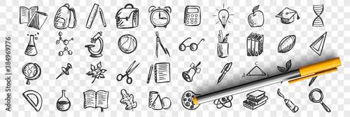 Fotografija School doodle set