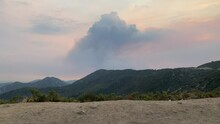 Smoke Cloud Forming From Large Wildfire Start