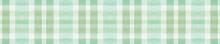 Green Gingham Check. Watercolor Tartan Material.