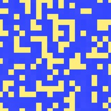 Pixel Square Art Abstract Illustration Background