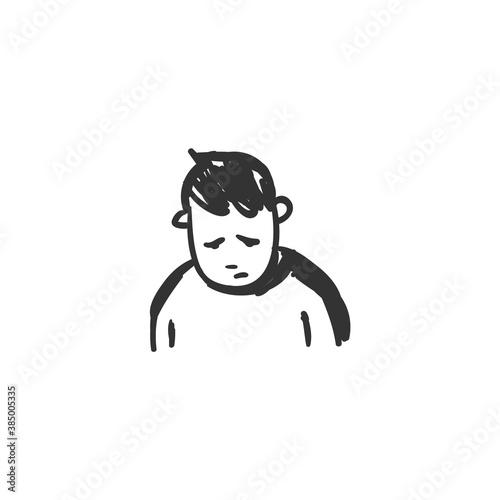 Valokuva Sorrow feeling icon