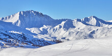 Panoramic View Of The Snowy Hi...