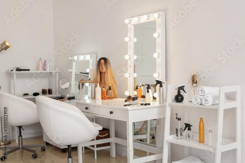 Stylish interior of modern hairdresser salon