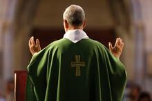 Basilica Of Our Lady Of Geneva, Sunday Mass, Eucharist Celebration, Geneva, Switzerland