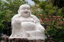 Thien Ung Buddhist Temple, Smiling Maitreya Buddha, Big Happy Maitreya Buddha Statue, Quy Nhon, Vietnam, Indochina