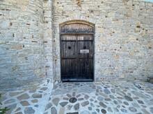 Medieval Wooden Heavy Door On ...